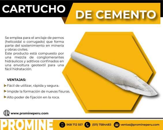 Cartuchos de cementos // promine peru